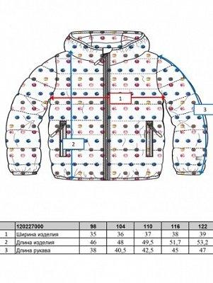 Куртка текстильная для девочек Куртка текстильная для девочек - фото 1
