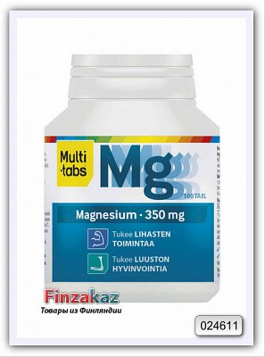 Витамины Multi-tabs MULTI-TABS MAGNESIUM 350MG NIELTAVA 100 шт - фото 1